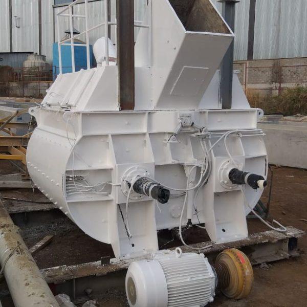 200 Cubic Foot BHS Sonthofen Carbon Steel Twin Shaft Trough Mixer