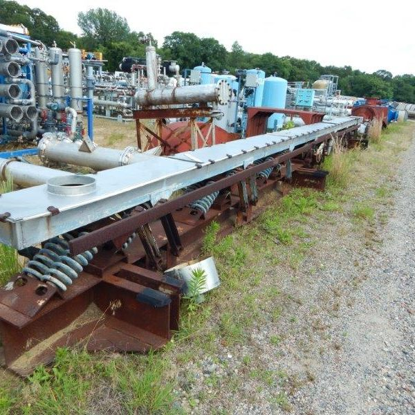 12″ Wide X 38′ Long Rexnord Carrier Stainless Steel Vibrating Conveyor