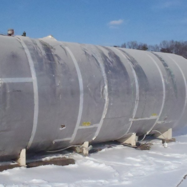 6,000 Gallon 304 Stainless Steel Horizontal Tank, 7′ Dia. X 20′ Straight Side