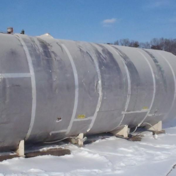 6,000 Gallon 304 Stainless Steel Horizontal Tank, 7′ Dia. X 20′ Straight Side