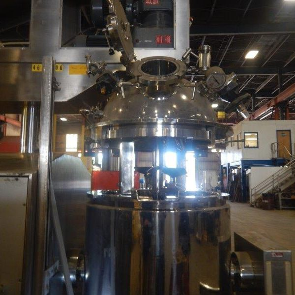 50 Gallon 10 HP Olsa 316L Stainless Steel Vacuum Mixer Homogenizer