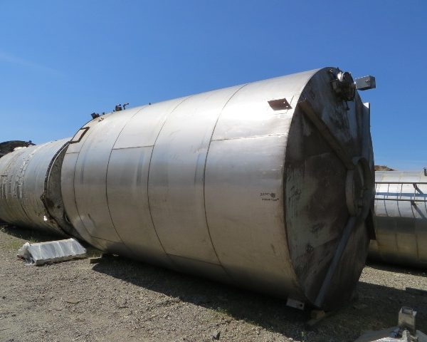 15,000 Gallon Stainless T304 Steel Vertical Tank, 12′ Dia. X 18′ Straight Side
