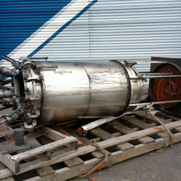 80 Gallon  Agitated Vertical Stainless Steel Tank, 2′ Dia. X 3'6″ Straight Side