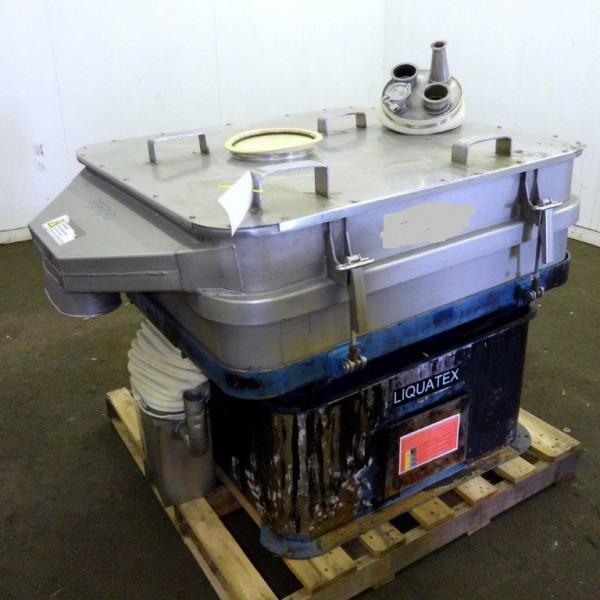 3'8″ X 3'6″, 1-Deck, 1.5 HP, 316 Stainless Steel Rotex Liquatex Model L44-1-C Separator Screen