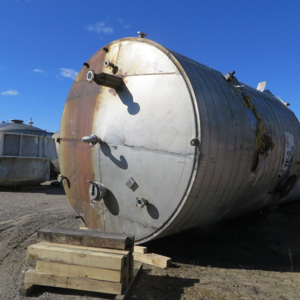 15,200 Gallon Stainless Steel Vertical Tank, 12′ Dia. X 18′ Straight Side