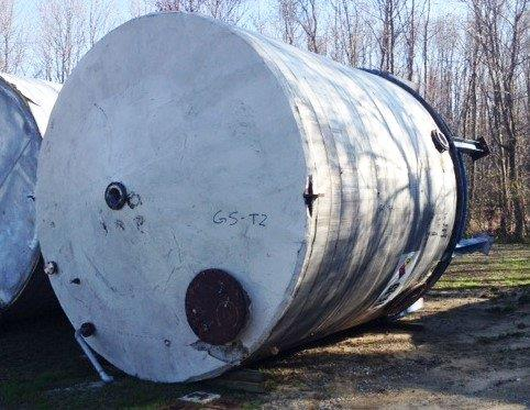 13,000 Gallon Stainless Steel Vertical Tank, 12′ 6″Dia. X 13′ Straight Side