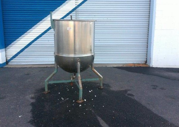 150 Gallon 50 PSI Jacket Hemispherical Bottom Kettle