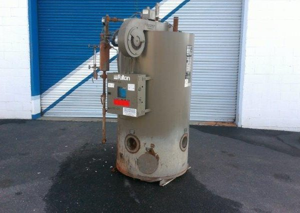 832#/Hour 150 PSI Fulton Gas Fired Boiler
