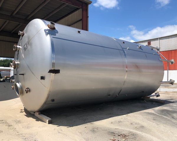 20,000 Gallon 304 Stainless Steel Vertical Tank, 12′ Dia. X 25′ Straight Side