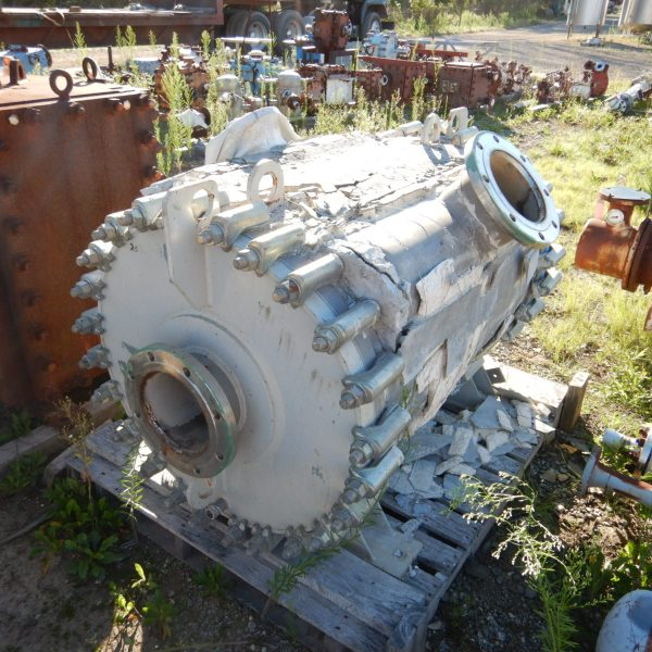 325 Sq. Ft. Alfa Laval 304 Stainless Steel Spiral Heat Exchanger