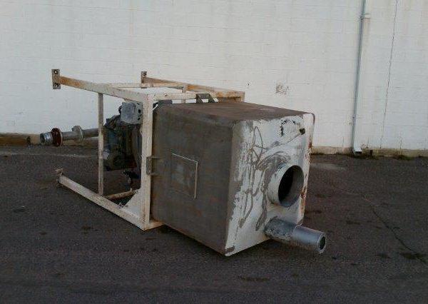 33″ X 36″ X 36″ Rectangular Steel Hopper