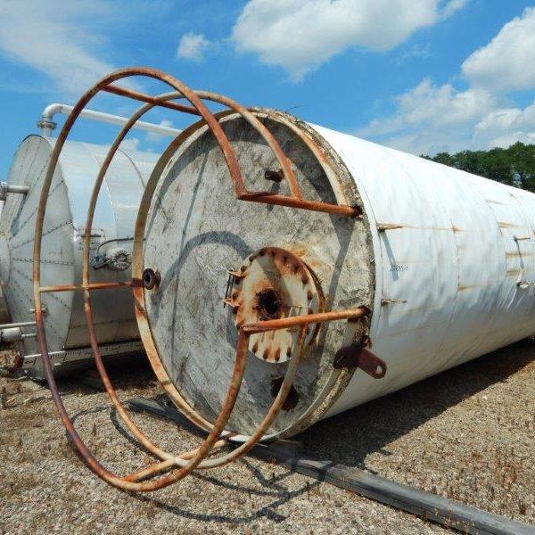 7000 Gallon Continental Inc Carbon Steel Vertical Tank Slight Cone Top, Sloped Bottom