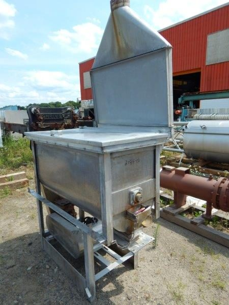 Used 15 Cubic Foot Stainless Steel Double Ribbon Blender
