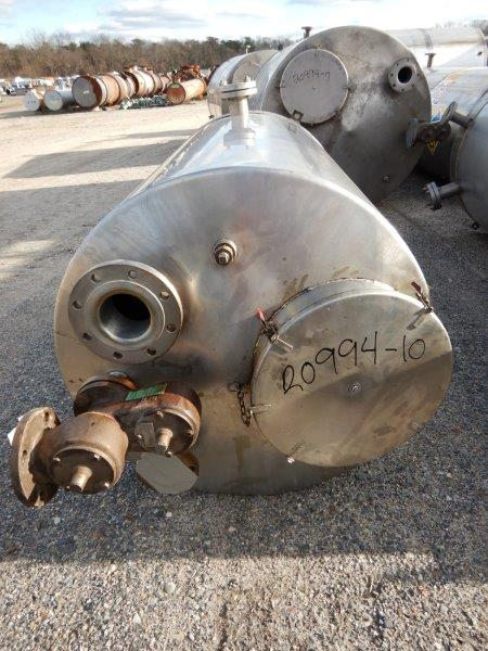 Used gallon stainless steel vertical tank