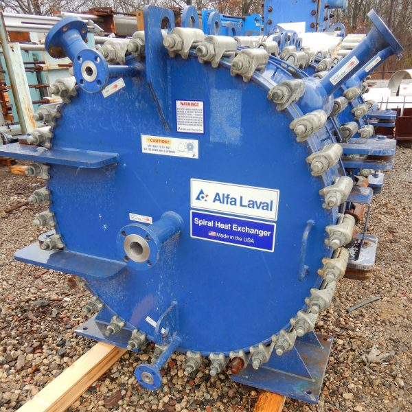 315 Sq. Ft. Alfa Laval Stainless Steel Shell Spiral Heat Exchanger