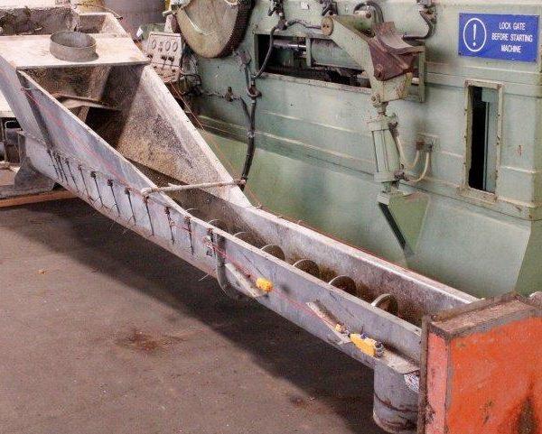 12″ Diameter Screw x 240″ Overall Length Sand Separator, Stainless Steel Vat