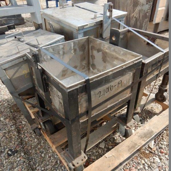 5 Cubic Foot Stainless Steel Hopper