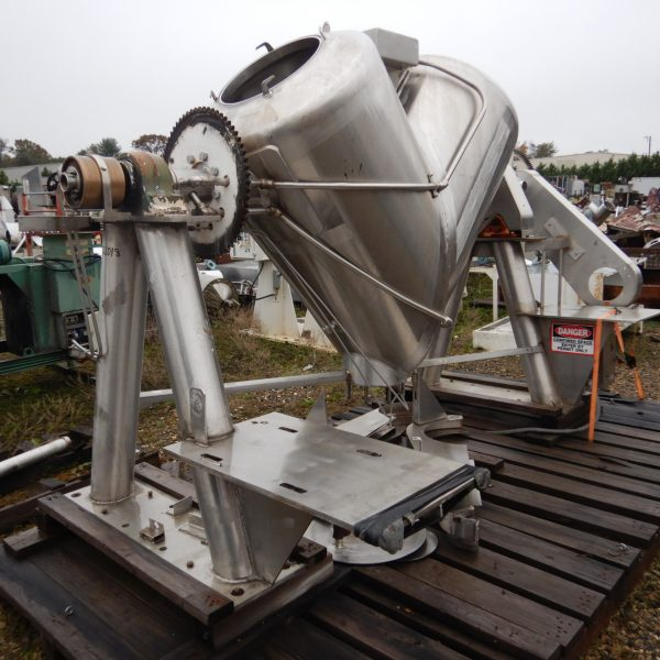 20 Cubic Foot Patterson Kelley Stainless Steel Jacketed V-Blender