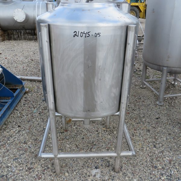 90 Gallon Stainless Steel Vertical Tank, 32″ Dia. X 26″ Straight Side