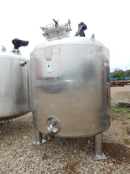 875 Gallon 50 PSI Internal, 100 PSI Jacket 316L Stainless Steel Reactor