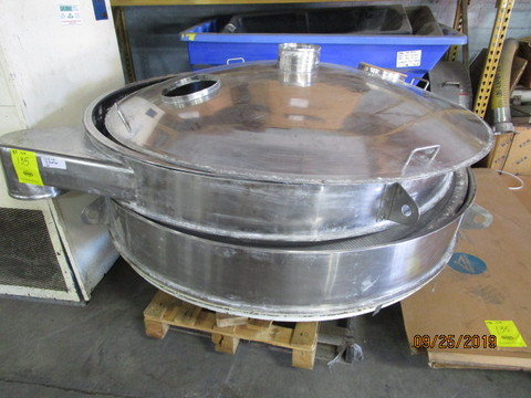 72″ Diameter Sweco Screen, Stainless Steel Construction