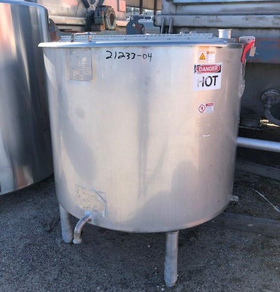 200 Gallon 316L Stainless Steel Jacketed Tank