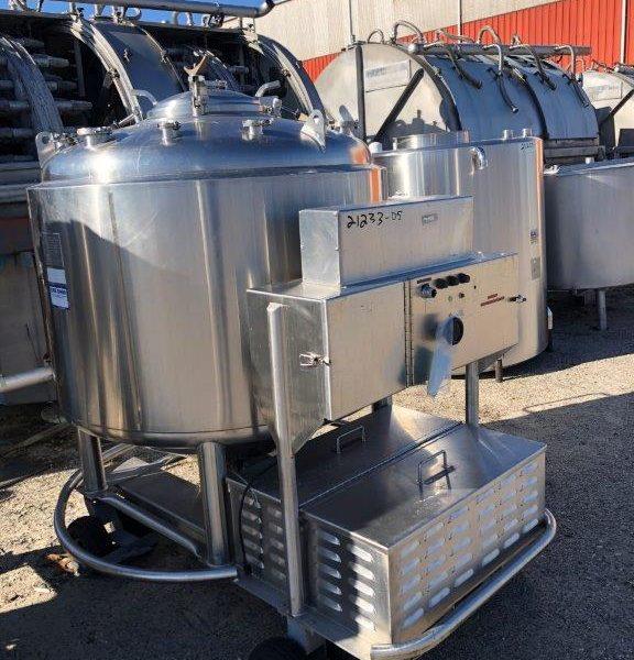 262 Gallon 32 PSI Jacket 316L Stainless Steel Pressure Vessel/Likwifier