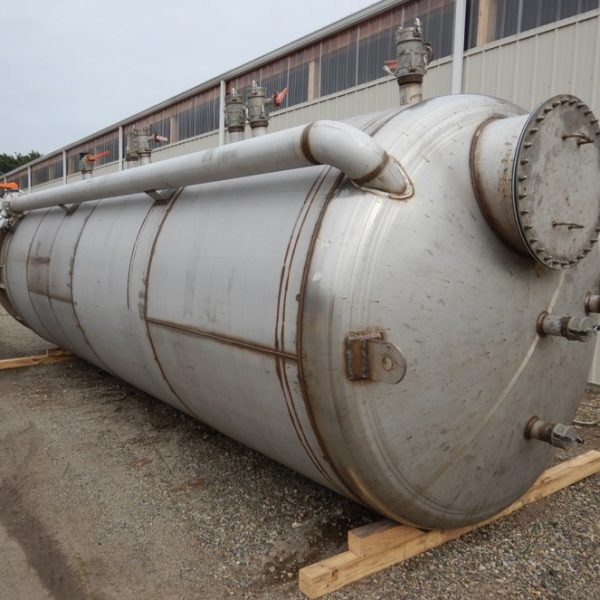 6,000 Gallon Stainless Steel Vertical Tank, 7′ Dia. X 19′ Straight Side