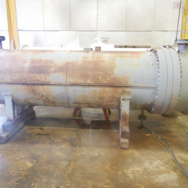 1850 Sq. Foot Atlas Industries Shell and Tube Heat Exchanger 304 Stainless Steel