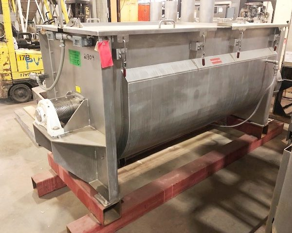36 Cubic Foot Scott 304 Stainless Steel Jacketed Ribbon Blender