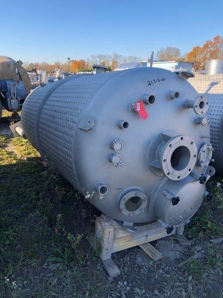 1000 Gallon 50 psi Internal, 150 psi Jacket Stainless Steel Reactor Stainless Steel Reactor