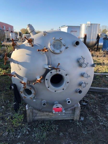 1000 Gallon 50 PSI Internal, 150 psi Jacket Stainless Steel Reactor