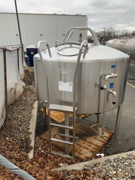 800 Gallon Stainless Steel Jacketed Mix Tank