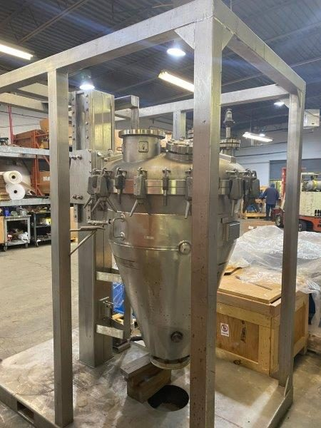 5 Cubic Foot  B.V. Speciaal Roesivriustall Industrie Stainless Steel Conical Dryer