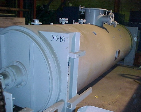 44″ X 16′ JH Day 304 Stainless Steel Cylindrical Shell Rotary Paddle Vacuum Dryer