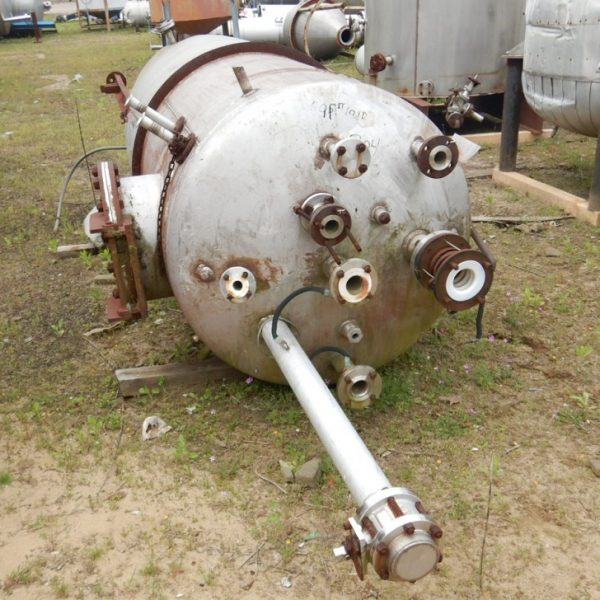 500 Gallon 304 Stainless Steel Vertical Tank, 4′ Dia. X 6′ Straight Side