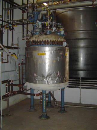 650 Gallon, 54″ X 5′,  Glass Lined Tank