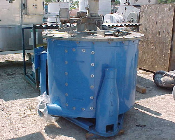 48″ X 30″ Delaval 316L Stainless Steel Perforated Basket Centrifuge