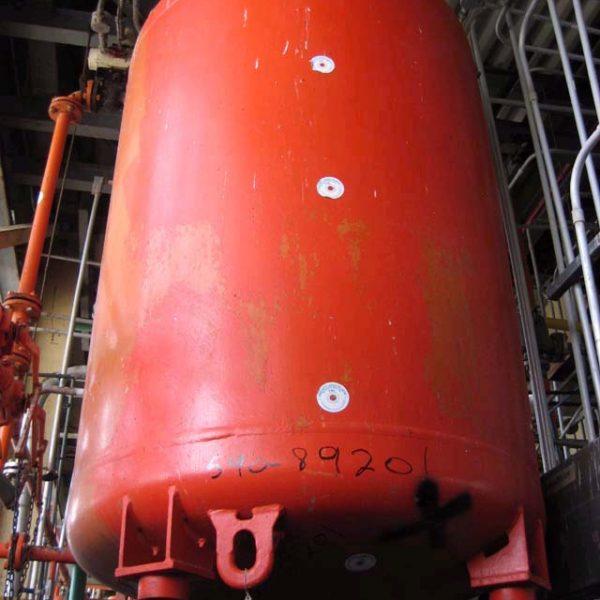 750 Gallon, 48″ X 5′, 50 PSI/FV, De Dietrich Glass Lined Tank