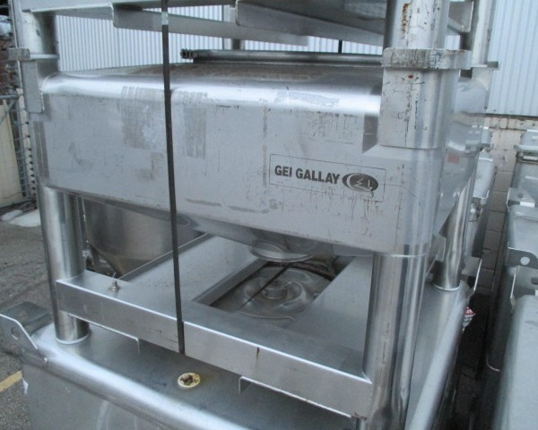 14 Cubic Foot GEI Sanitary Stainless Steel Stackable Tote
