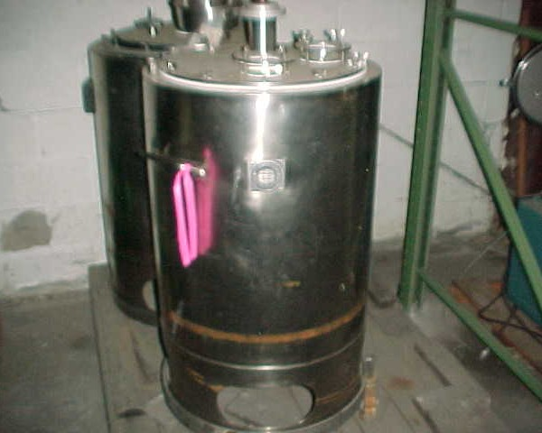 40 Gallon 316 Stainless Steel Vertical Tank 19.5″ Dia. X 29″ Straight Height