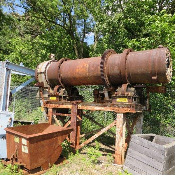 36″ X 15′ Hardinge Stainless Steel Rotary Steam Tube Dryer
