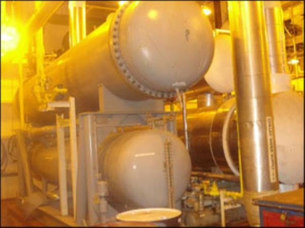 1200 Tons 1250 HP FES Ammonia Chiller