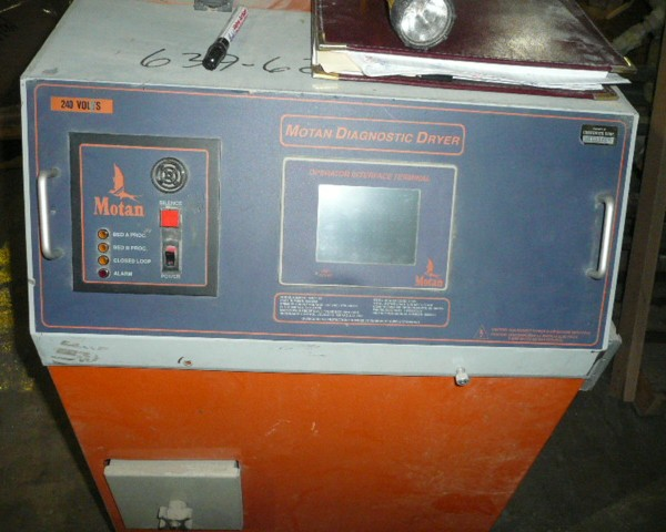 300 Lb. Motan Model 100 Desiccant Dryer