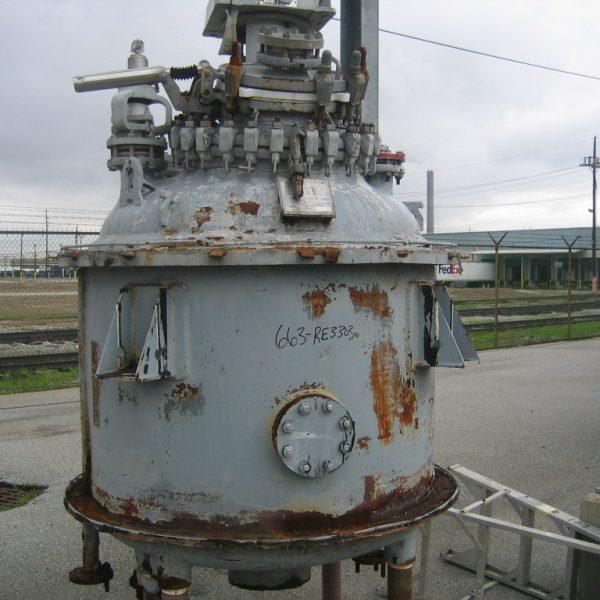 300 Gallon 100 FV Internal, 100 Jacket De Dietrich Vertical Glass Lined Reactor