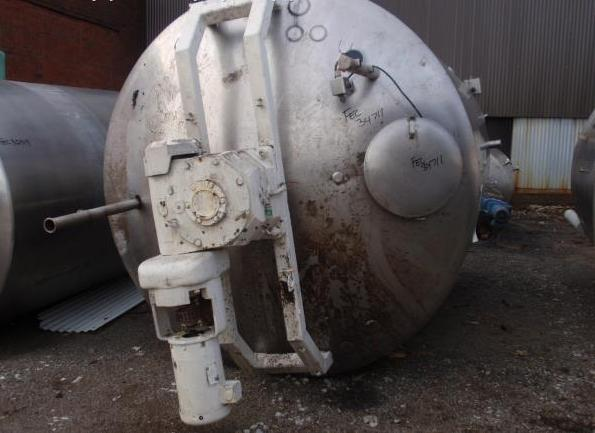 3,500 Gallon 304 Stainless Steel Jacketed Processor