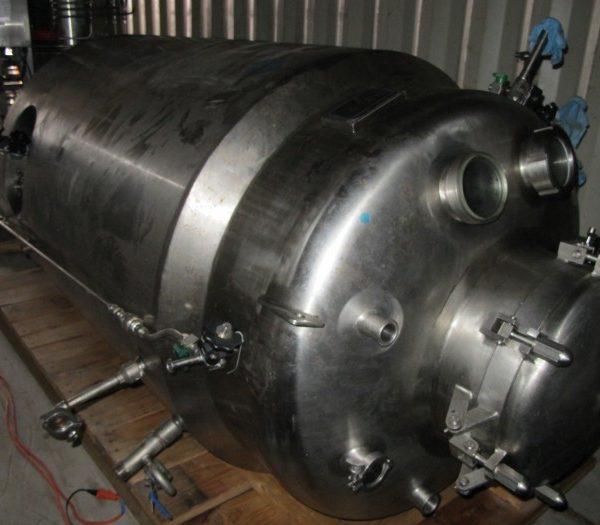 400 Gallon 45 PSI Internal, 100 PSI Jacket Stainless Steel Process Vessel