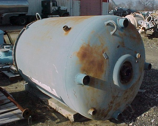 500 Gallon 25 FV Internal, 95 Jacket Pfaulder Glass Lined Reactor Body