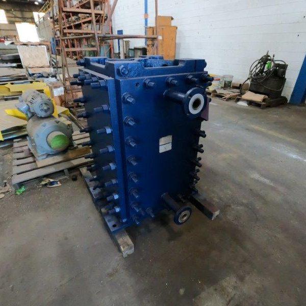 436 Sq. Ft. Alfa Laval Hastelloy Block Heat Exchanger
