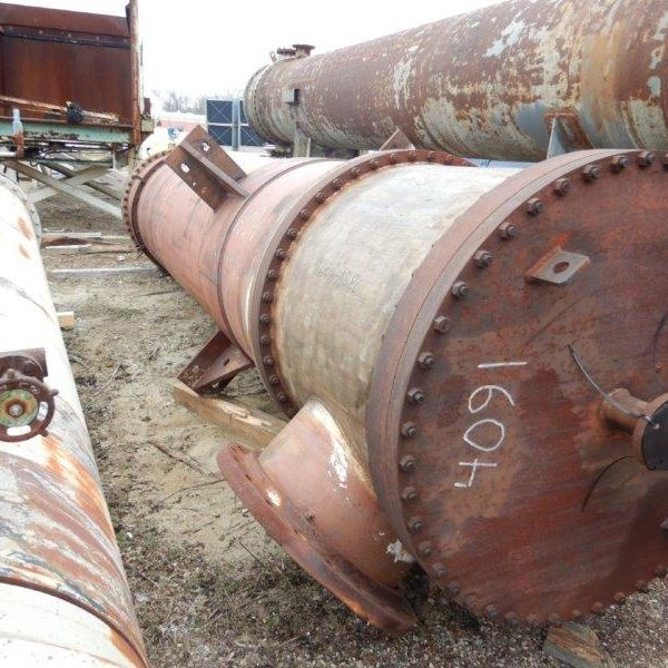 4400 Sq. Foot Atlas Industrial Vertical Shell and Tube Exchanger